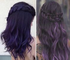 Capelli Ultra Violet tendenze colore viola 2018. Tendenze capelli viola  scuro