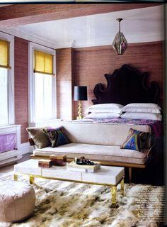 jackie astier // elle decor bedroom #plum #mauve