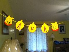 Cute Winnie the Pooh Birthday banner by Onecraftyhippo on Etsy, $1.00