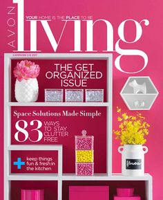 Success Center 2017-Avon's 'Living' magazine with organizing helps.  Space solutions made simple.