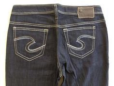 SILVER JEANS SALE Buckle Low Rise Pica Wide Leg Flare Bell Stretch Jean 28 X 33 #SilverJeans #Flare
