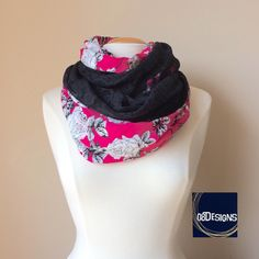 Breastfeeding Cover Top, Nursing Scarf Pink, Black Floral Lace Infinity Scarf, Reversible Chunky Scarf, Women Nursing Baby Cover, New Mom by 08Designs on Etsy https://www.etsy.com/listing/190545453/breastfeeding-cover-top-nursing-scarf