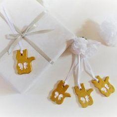 Etiquette cadeau ornements lot de 4 chats