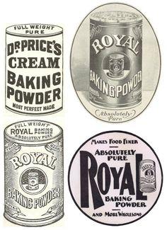 1900's Antique Baking Powder Advertisements Printables via KnickofTime.net
