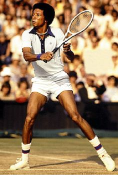 Great Black Men in History  Arthur Ashe     The first black man to reach the top ranks of international tennis, Arthur Ashe is the very personification of the educated gentleman- athlete Ashe's talents on the tennis courts not only secured his personal fame, they also opened the sport to greater black participation--both on a professional and recreational basis