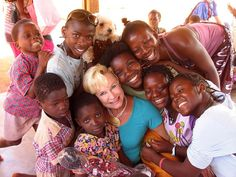 Heidi Baker and the children of Mozambique. Heidi is a great inspiration