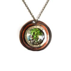 Heron and Lamb: Woodland Terrarium Necklace, at 18% off!
