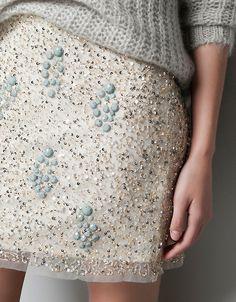 fun skirt with sweater