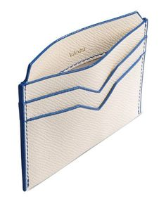 card case Men's - VALEXTRA - white with blue piping