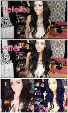 loose wavy hair style with black hair extensions for short hair