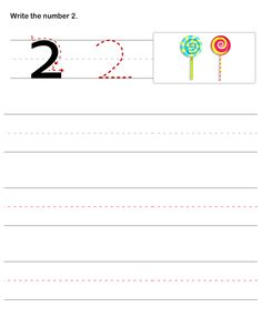 Math Worksheets, Preschool Worksheets, Number Writing Worksheets