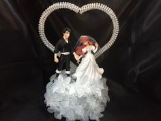 Ariel and Eric Wedding Cake Topper by Bee3DGifts on Etsy | Stuff to ...
