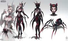 Elise The Spider Queen | Video Games Artwork