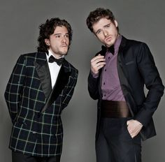 ladies and gentlemen, the bastard crow and the king in the north. (Kit Harington and Richard Madden)