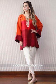 Zehra Saleem UK 2018 Online Shop London, Manchester, Birmingham. Buy Latest Casual Wear Designer Dresses Online at Dress Republic. Stylish Dresses For Girls, Stylish Dress Designs, Designs For Dresses, Casual Dresses, Pakistani Fashion Party Wear, Pakistani Outfits, Indian Outfits, Indian Fashion, Simple Pakistani Dresses