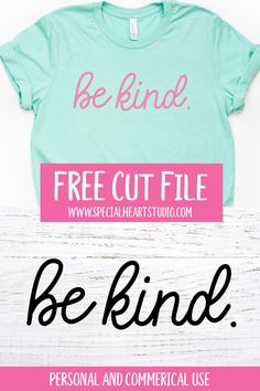 Free Kindness SVG Cut Files for Cricut or Silhouette. Use these free SVG cut files for personal or commercial use (up to 200 items) to craft a shirt or sign. Be Kind and Kind People Are My Kind Of People. Cricut Svg Files Free, Free Svg Cut Files, Free Silhouette Files, Silhouette Cameo Tutorials, Cricut Vinyl, Cricut Craft, Cut Image, Merry Christmas, Vinyl Shirts