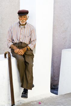 Pappou of Santorini Island, Greece