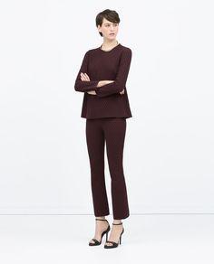 Image 1 de TOP JACQUARD BABY DOLL de Zara