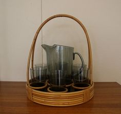 Grey Glass, Kettle, Stoneware, Coffee Maker, Mid Century, Canning, Tableware, Retro, Norway