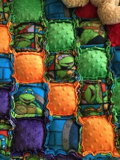 Teenage Mutant Ninja Turtles bubble quilt by CozyChryssy