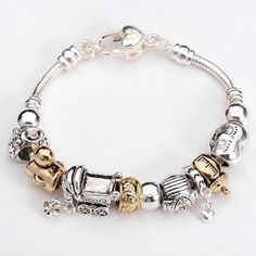 US $4.99 New without tags in Jewelry & Watches, Fashion Jewelry, Charms & Charm Bracelets. Baby theme.