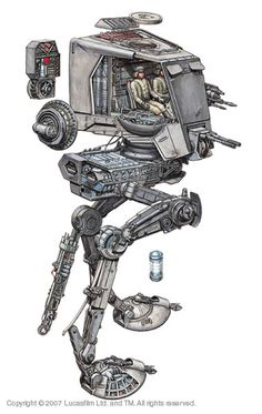 AT-ST Cutaway #StarWars