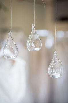 Our Beautiful Tear Drop Candle Holders - They would look beautiful hanging outside! Ceiling Draping, Ceiling Lights, Wedding Rentals, Vancouver Island, Reception Decorations, Bliss, Modern Design, Centerpieces, Candle Holders