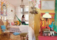Habitado pela arquiteta carioca Alexandra Albuquerque, este quarto-sala no centro de São Paulo tem espaço para tudo – tudo o que couber na imaginação da moradora