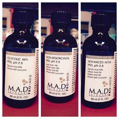 M.A.D Skincare offers 10 chemical peels for the Esthetician to work with in order to reach the goals she has set forth for her clients. This brand is very active and addresses 5 skin concerns! Check it out on our professionals only web site!
