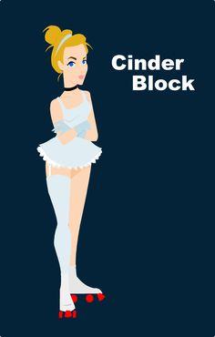 Cinderella as a Roller Derby Girl (Cinder Block), Disney