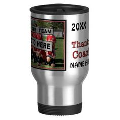 Shop Personalized Gift Ideas for Coaches Soccer Travel Mug created by SpecialOrders. Coffee Mugs Online, Custom Travel Mugs, Soccer Gifts, Personalized Mugs, Coaches, Photo Mugs, Cool Designs, Treats, Gift Ideas