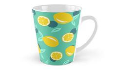 Lemon dots #redbubble #decor #buyart by designdn Tall Mugs