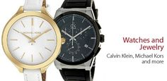 Calvin Klein and Michael Kors - Watches and Jewelry -                                                                        Ladies' Marina Watch in Silver                                 Men's 101G Chronograph Watch In Black                                 Ladies' Timeless Watch in Black Mother of Pearl                      ...  #Bangle, #ChronographWatch, #Clock, #Diamond, #Frame, #Mirror, #Sapphire, #Underwear