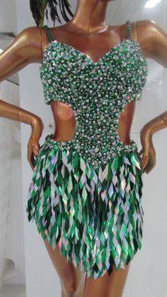 Da NeeNa M092 Salsa Latin Samba Dancing With the Stars Dance Dress