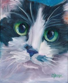 """Daily Paintworks - """"Kitty Harbor"""" - Original Fine Art for Sale - © Marnie Bourque"""