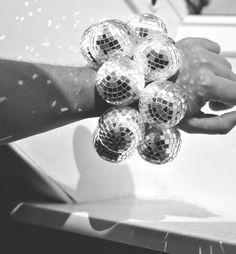 Disco ball bracelet.