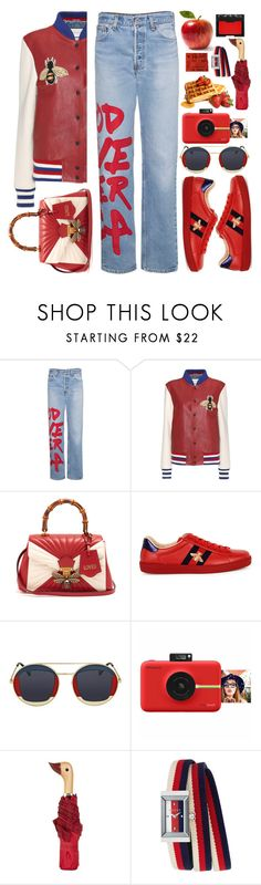 """Free Styling"" by queenvirgo ❤ liked on Polyvore featuring R13, Gucci, Polaroid, Topshop and NARS Cosmetics"