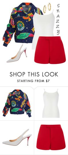 """""""❤"""" by styledbykesh ❤ liked on Polyvore featuring Versace Jeans Couture, Dorothy Perkins, Christian Louboutin, RED Valentino and John Hardy"""