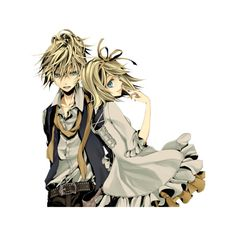 kagamine twins vocaloid ❤ liked on Polyvore featuring anime, vocaloid and anime couples