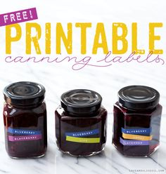 Jazz up your canning labors with this fantastic freebie label. Free Mix 'N Match Printable Canning Labels via loveandoliveoil.com