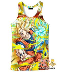 DBZ Ecstatic Combat Super Saiyan Goku T-Shirt - Dragon Ball Z 3D Shirts And Clothing