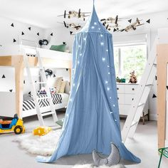 Nordic Ideas Tent for Toddler Bed Teepee Sky Bed with Mosquito Net Curtain Bed Baby Girl Decoration Room NTE001