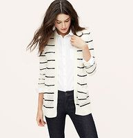 Striped Sheer Open Cardigan - We're crushing on the sheer ease of this throw-it-on piece. Open front. Long sleeves. Patch pockets. Ribbed cuffs and vented hi-low hem.