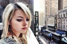 "How to Get Emma Stone's ""Cool Girl"" Birdman Look - Emma Stone Birdman Makeup - Elle Skin Makeup, Beauty Makeup, Birdman, Actress Emma Stone, Star Wars, Covergirl, Look Fashion, Street Fashion, Fashion Beauty"