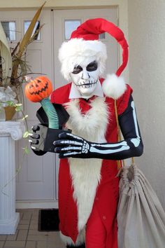 ce06dd73b61 Jack Skellington as Santa Jack from Nightmare Before Christmas Thirl Hupp  in costume and full designer ....See me on Face Book