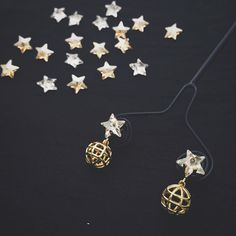 Star Globe Earrings: A petite expression of the stars & the planets coming together.  http://ift.tt/1TkC4lK International Orders: E-mail us at order@maithilikabre.com Ships Worldwide . . Collection: Galileo Inspired by the work of the great physicist & astronomer- Galileo Galilei. .  The jewellery is finely crafted using an intelligent mix of digital mechanical and hand-crafting processes. 18k gold plated hand-set with cubic zircons in prong and flush settings by extremely skilled craftsmen…