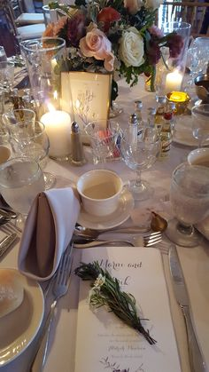 A beautiful table setting at an Aldrich Mansion reception.