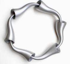 lucie houdková: plastic tape jewelry -  cocoon 6