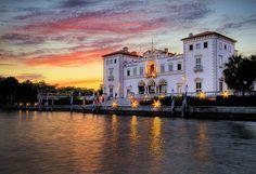 Vizcaya at Dusk, Miami, FL