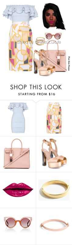 """Plus Size Please"" by keys2luxlife on Polyvore featuring Alexander McQueen, Raoul, Yves Saint Laurent, Giuseppe Zanotti, J.Crew and Fendi"